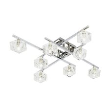 8 Light Ceiling Semi-Flush Mount in Chrome