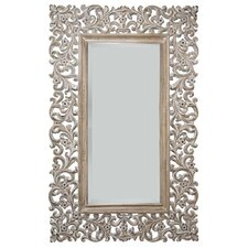 160X100Cm Ornamental Mirror in Gloss White