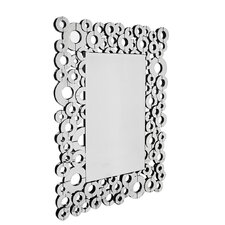Retro Bubble Mirror in Clear