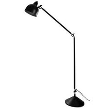 190 cm Metal Industrial Floor Lamp in Black