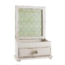 Wooden Jewellery Box / Holder in Antique White