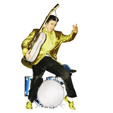 Hollywood Elvis Presley with Drums Walljammers Wall Decal
