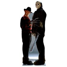 Cardboard Halloween Freddy and Jason Cutout Standup