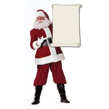 Cardboard Christmas Santa Claus with Scroll Standup