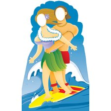 Life-Size Stand-Ins Surfer Couple Cardboard Stand-Up