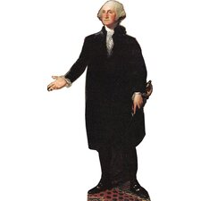 Cardboard Patriotism and Politics George Washington Standup