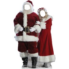 Christmas Santa & Mrs. Claus Stand-in Cardboard Stand-Up