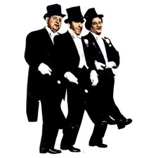 Three Stooges in Tuxedo Jammers Wall Decal
