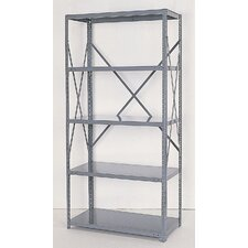 <strong>Republic</strong> Industrial Clip Open Shelving: Angle Post Units with 5 Shelf Frames - Starter Unit
