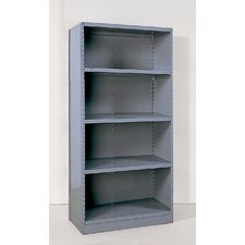 Industrial Clip Closed Shelving: Angle Post Units with 4 Shelves; Starter Unit