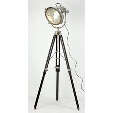 Art Deco Theatre Floor Lamp in Wood