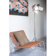 Movie Set Stage Floor Lamp in Chrome