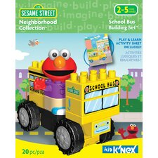 Sesame Street Neighborhood School Bus Building Set