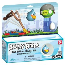 Angry Birds Blue Bird and Helmet Pig Building Set