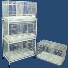 Four Medium Bird Cage with 4 Feeder Doors