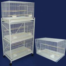 Four Medium Bird Cage with 2 Feeder Doors