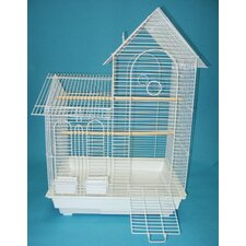 Villa Top Small  Bird Cage with 2 Feeder Doors