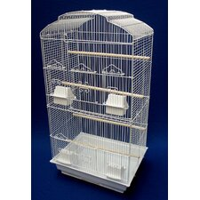 Shall Top Small Bird Cage in White