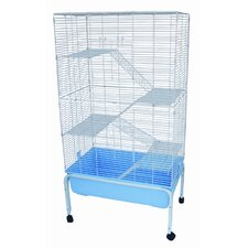 5 Levels Small Animal Indoor Cage with Stand in Blue