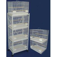 Six Small Bird Cage with 2 Feeder Doors