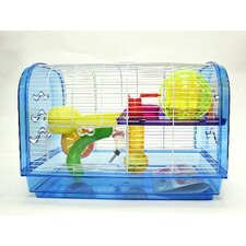Clear Plastic Cage, Dome with Color Accessories