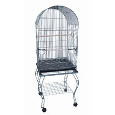 Dome Top Parrot Bird Cage with Stand