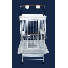 Play Top Parrot Bird Cage with 3 Feeder doors