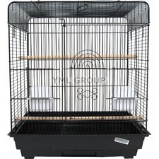 "1/2"" Bar Spacing Flat Top Small Bird Cage"