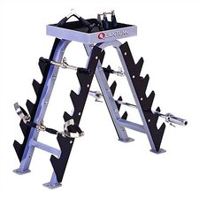 <strong>Quantum Fitness</strong> High Impact Commercial Bar and Handle Accessory Rack