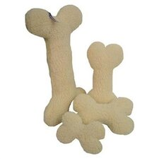 Sheepskin Bone Dog Toy