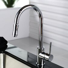 <strong>Kraus</strong> Single Handle Single Hole Kitchen Faucet with Lever Handle with Pull Down Hose