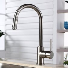 Kitchen Faucet with Lever Handle with Pull Down Hose