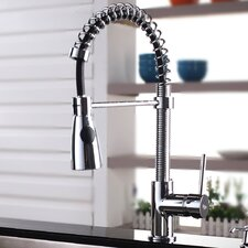 <strong>Kraus</strong> One Handle Single Hole Kitchen Faucet with Soap Dispenser and Pull Out Sprayer