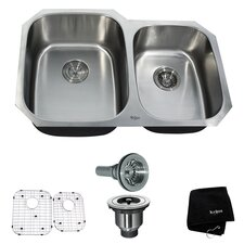 "31.5"" x 20.5""  6 Piece Undermount Double Bowl Kitchen Sink Set"