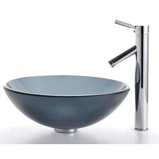 <strong>Kraus</strong> Glass Vessel Sink and Sheven Faucet