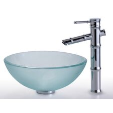 Clear Glass Vessel Sink