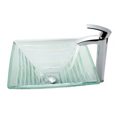 Alexandrite Vessel Bathroom Sink with Faucet