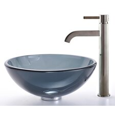 Glass Vessel Sink and Ramus Faucet