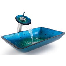 Glass Combinations Galaxy Vessel Bathroom Sink & Faucet