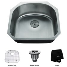 "23.25"" x 20.88"" Undermount Single Bowl Kitchen Sink"