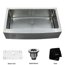 "35.88"" x 20.75"" Farmhouse Kitchen Sink"