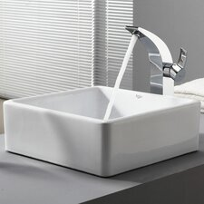 Bathroom Combos Bathroom Sink  with Single Handle Single Hole Waterfall Illusio Faucet