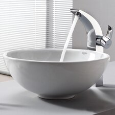 <strong>Kraus</strong> Bathroom Combos Single Hole Waterfall Illusio Faucet and Bathroom Sink