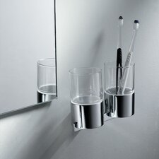 Aura Wall Mounted Double Glass Tumbler Holder