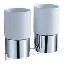 Aura Wall-mounted Double Ceramic Tumbler Holder