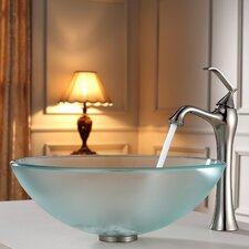 Glass Vessel Sink and Ventus Faucet