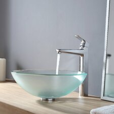 <strong>Kraus</strong> Glass Vessel Sink and Virtus Faucet