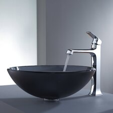 <strong>Kraus</strong> Decorum Glass Vessel Bathroom Sink with Faucet