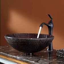 <strong>Kraus</strong> Callisto Glass Vessel Sink and Ventus Faucet