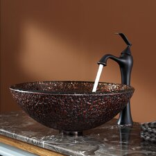 <strong>Kraus</strong> Venus Glass Vessel Sink and Ventus Faucet